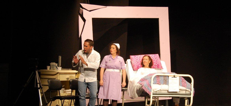 John Santos (Rui Louzeiro), Nurse Sandler (Maxine Costa) & Claire Harrison (Deborah Kloegman)-min